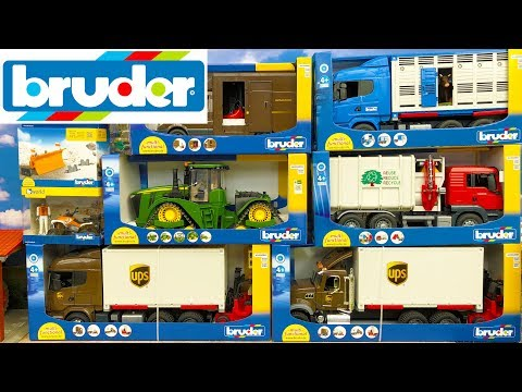 Bruder Toys 2018 NEWS unboxing – Truck, Tractor, Garbage truck and Van | Kids video