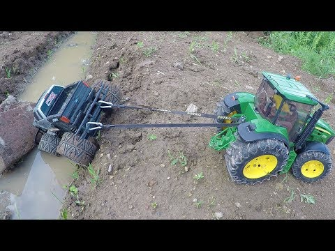 BRUDER Truck and Tractor RC action video!