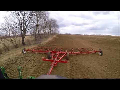 Smoothing Out New Seeding John Deere 7600 and Fuerst Harrow
