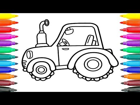 How To Draw Tractor For Kids Coloring Pages For Kids How To