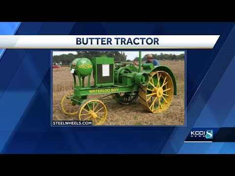 Butter tractor to join butter cow at Iowa State Fair