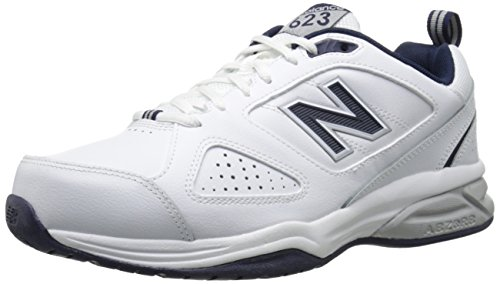 New Balance Men's MX623v3 Casual Comfort Training Shoe, White/Navy, 13 2E US